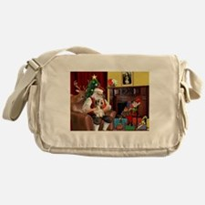 Santa's Petit Basset Messenger Bag
