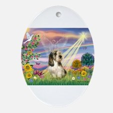 Cloud Angel & PBGV Ornament (Oval)