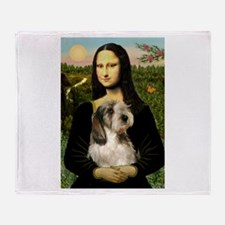 Mona & Her PBGV Throw Blanket