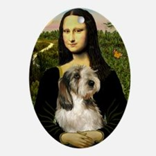 Mona & Her PBGV Ornament (Oval)