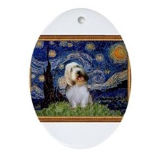 Starry Night PBGV Ornament (Oval)