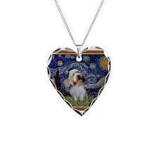 Starry Night PBGV Necklace