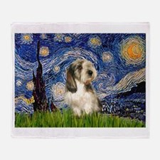 Starry Night PBGV (#4) Throw Blanket