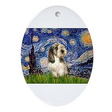 Starry Night PBGV (#4) Ornament (Oval)