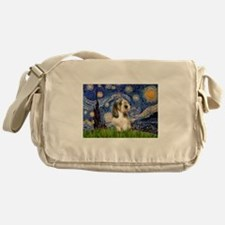 Starry Night PBGV (#4) Messenger Bag
