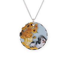 Sunflowers/ Petit Basset #8 Necklace