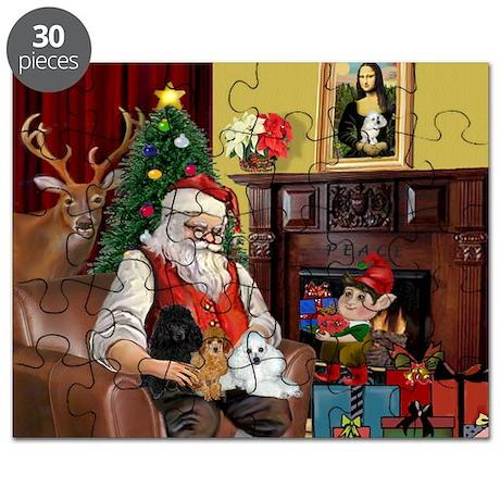 Santa's Poodle Trio Puzzle