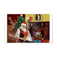Santa's Poodle Trio 22x14 Wall Peel
