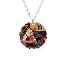 Santa's Toy Poodle (a) Necklace