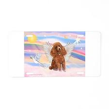 Angel/Poodle (apricot Toy/Min Aluminum License Pla