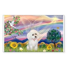 Cloud Angel & White Poodle Decal