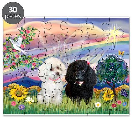 Cloud Angel & 2 Poodles Puzzle