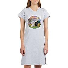 Cloud Angel & 2 Poodles Women's Nightshirt