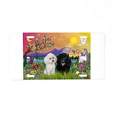 Fantasy Land & 2 Poodles Aluminum License Plat
