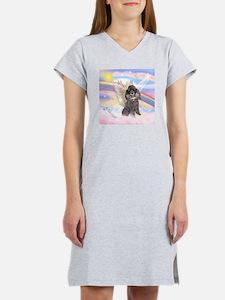 Silver Poodle Angel Women's Nightshirt