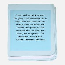 william tecumseh sherman baby blanket