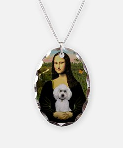 Mona & White Poodle Necklace