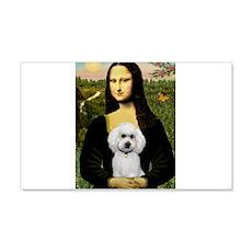 Mona & White Poodle 22x14 Wall Peel