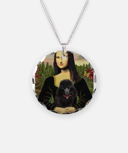 Funny Standard poodle famous painting Necklace
