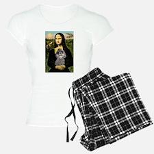 Mona & her Silver Poodle Pajamas