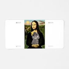 Mona & her Silver Poodle Aluminum License Plat