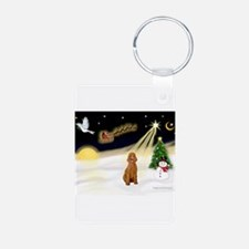 Night Flight/Poodle Std Keychains