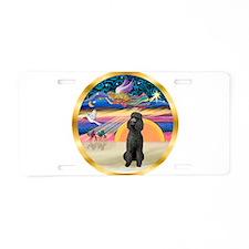 XmasStar/Poodle Std Aluminum License Plate