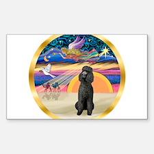 XmasStar/Poodle Std Sticker (Rectangle)