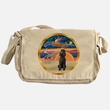 XmasStar/Poodle Std Messenger Bag