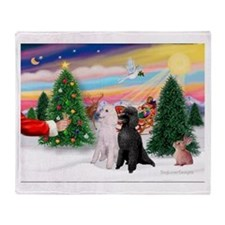 Treat/Two Poodles (ST) Throw Blanket