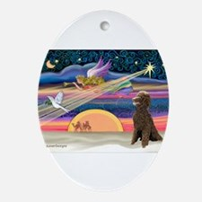 XmasStar/Poodle (STC) Ornament (Oval)