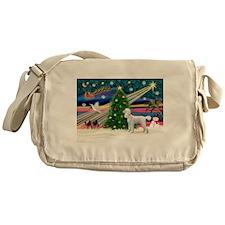 Xmas Magic & Poodle Messenger Bag