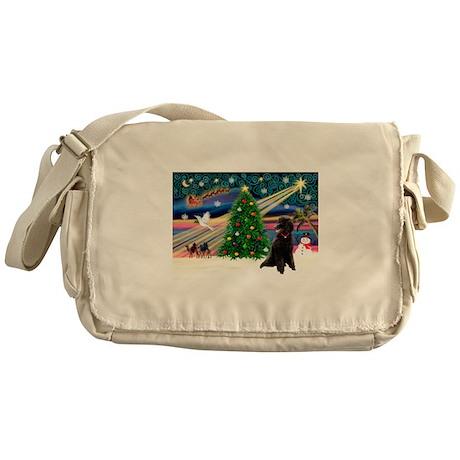 XmasStar/Poodle (ST-B) Messenger Bag
