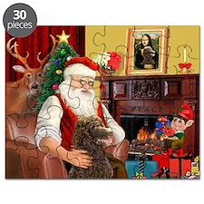 Santa's Std Poodle(c) Puzzle