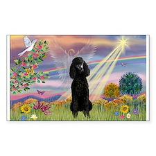 Cloud Angel Black Poodle (ST) Decal