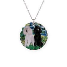 Bridge & Poodle Pair Necklace