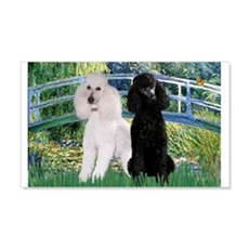 Bridge & Poodle Pair 22x14 Wall Peel