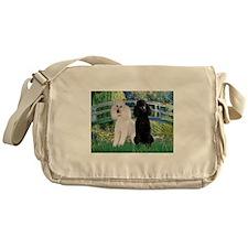 Bridge & Poodle Pair Messenger Bag