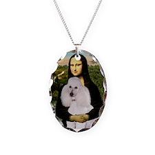 Mona's Standard White Poodle Necklace