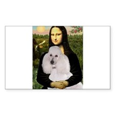 Mona's Standard White Poodle Decal