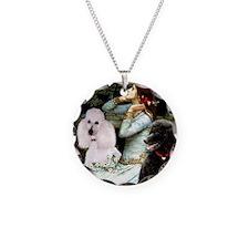 Ophelia (#2)-Poodle Pair (ST) Necklace