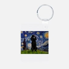 Starry Night Black Poodle (ST Keychains