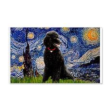Starry Night Black Poodle (ST 22x14 Wall Peel