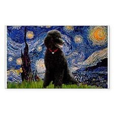 Starry Night Black Poodle (ST Decal