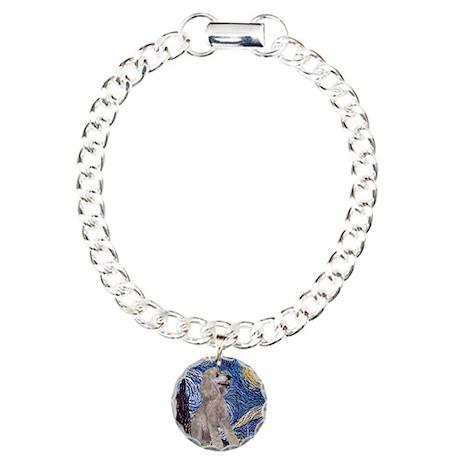 Starry Night Silver Poodle (S Charm Bracelet, One