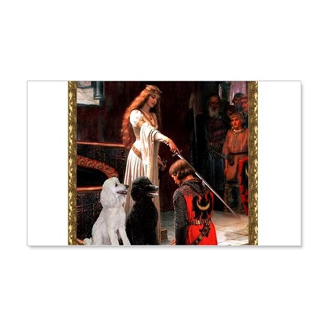 Accolade & Poodle Pair (ST1) 22x14 Wall Peel
