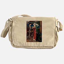 Tristan & Black Poodle Messenger Bag