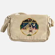 XmasSunrise/Pug Messenger Bag