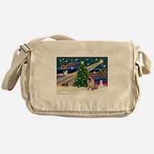 Xmas Magic & Pug Messenger Bag