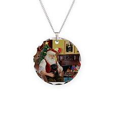 Santa's Black Pug Necklace